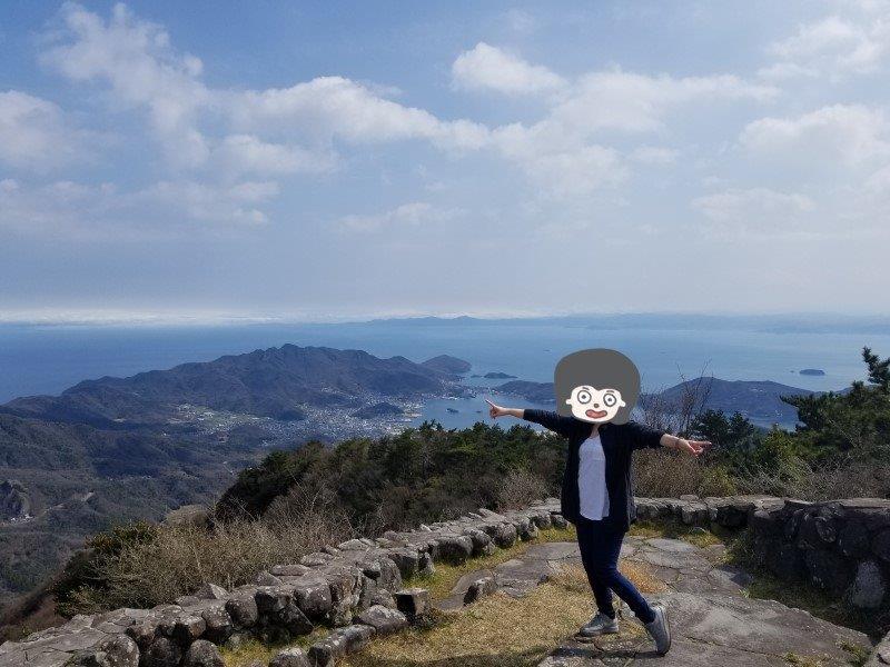 美しの原高原で記念撮影