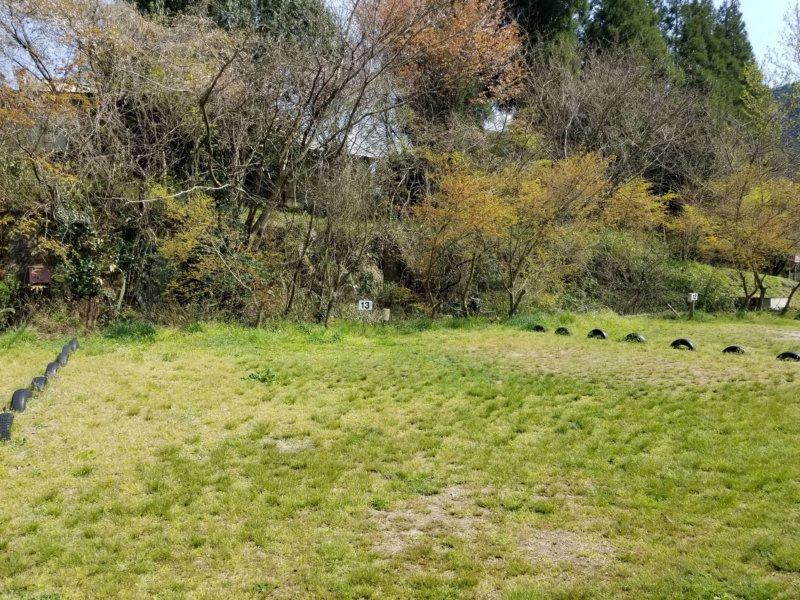 三日月の滝温泉キャンプ場(Aサイト13番)