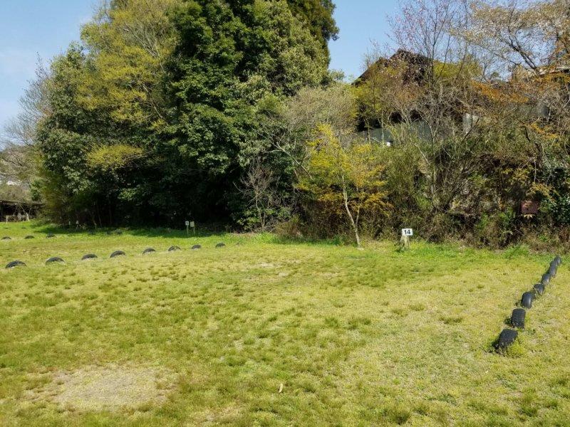 三日月の滝温泉キャンプ場(Aサイト14番)