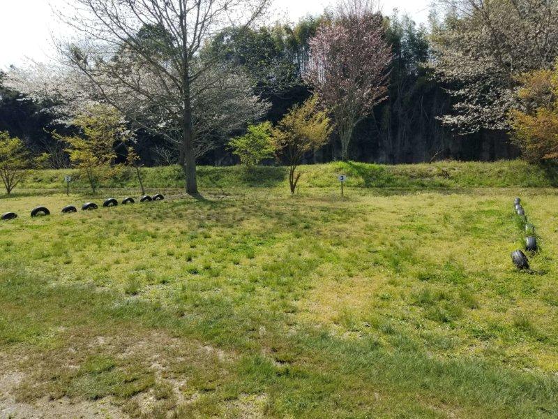 三日月の滝温泉キャンプ場(Aサイト3番)