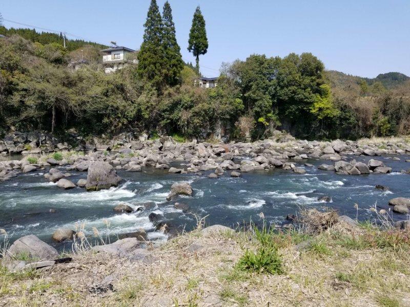 三日月の滝温泉キャンプ場(Bサイト10番からの景色)