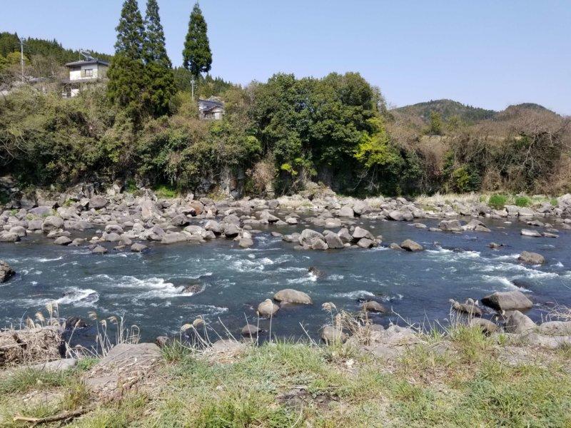 三日月の滝温泉キャンプ場(Bサイト11番からの景色)