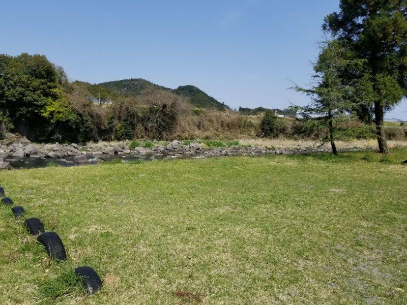 三日月の滝温泉キャンプ場(Bサイト12番)