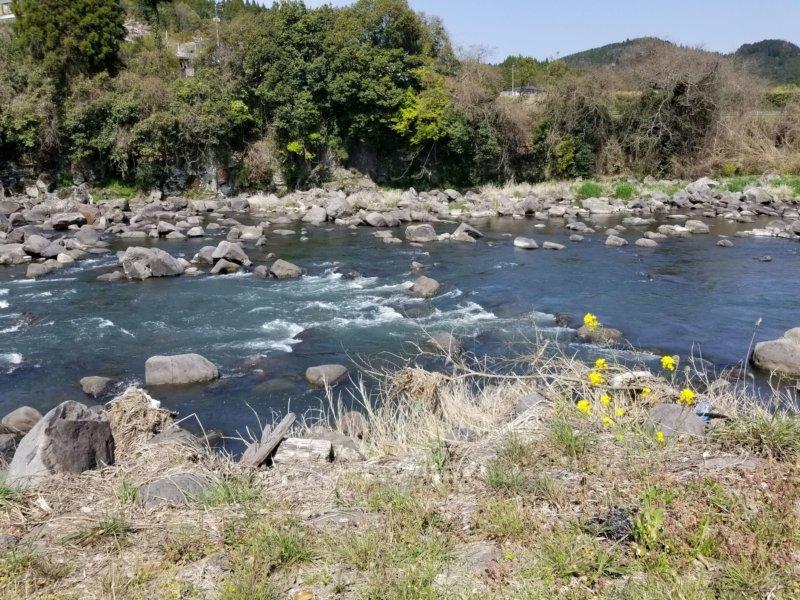 三日月の滝温泉キャンプ場(Bサイト12番からの景色)