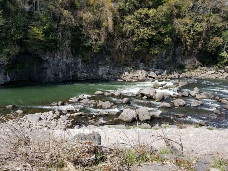 三日月の滝温泉キャンプ場(Bサイト7番からの景色)