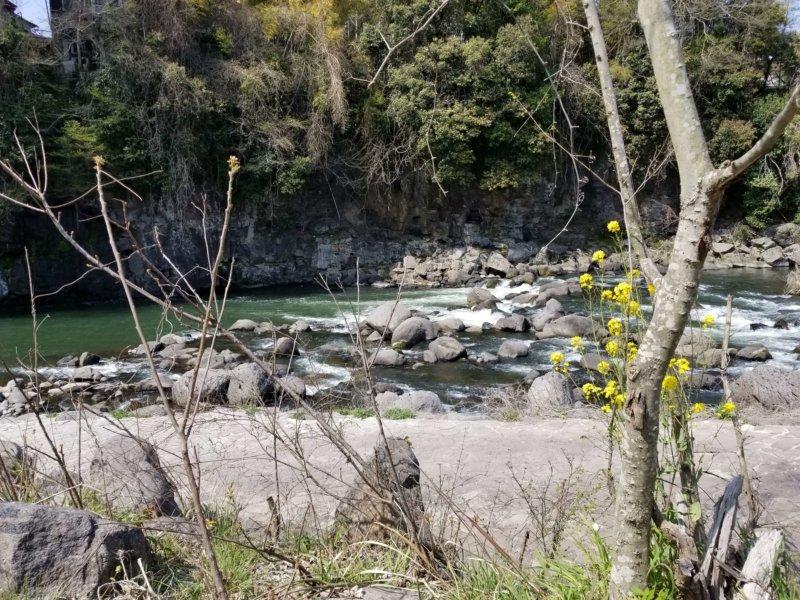 三日月の滝温泉キャンプ場(Bサイト8番からの景色)
