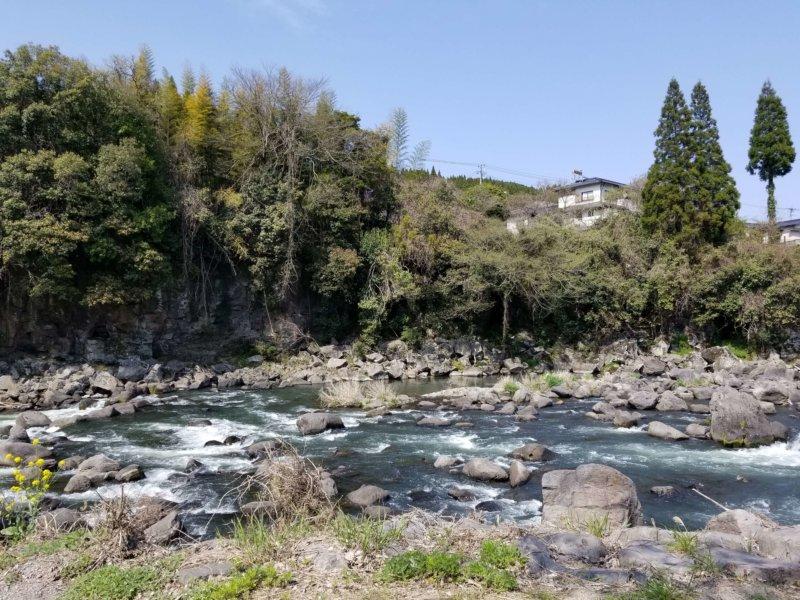 三日月の滝温泉キャンプ場(Bサイト9番からの景色)