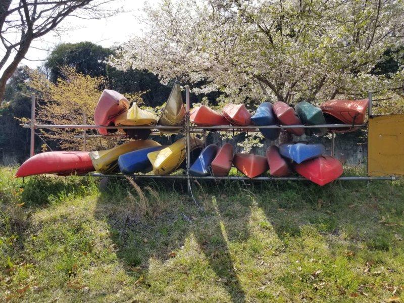 三日月の滝温泉キャンプ場(カヌー)