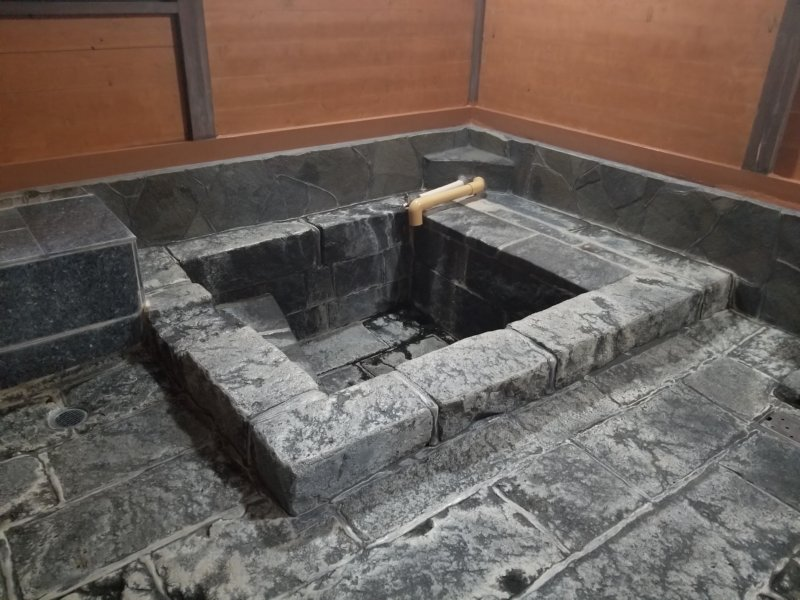 山田温泉の家族風呂(湯舟)