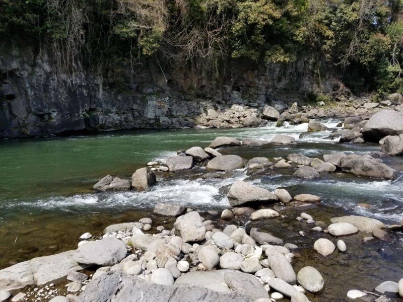 三日月の滝温泉キャンプ場(玖珠川その3)