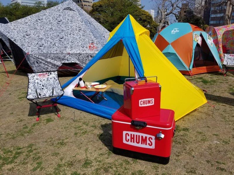 アウトドアデイジャパン福岡2019-チャムスのテントとギアその1