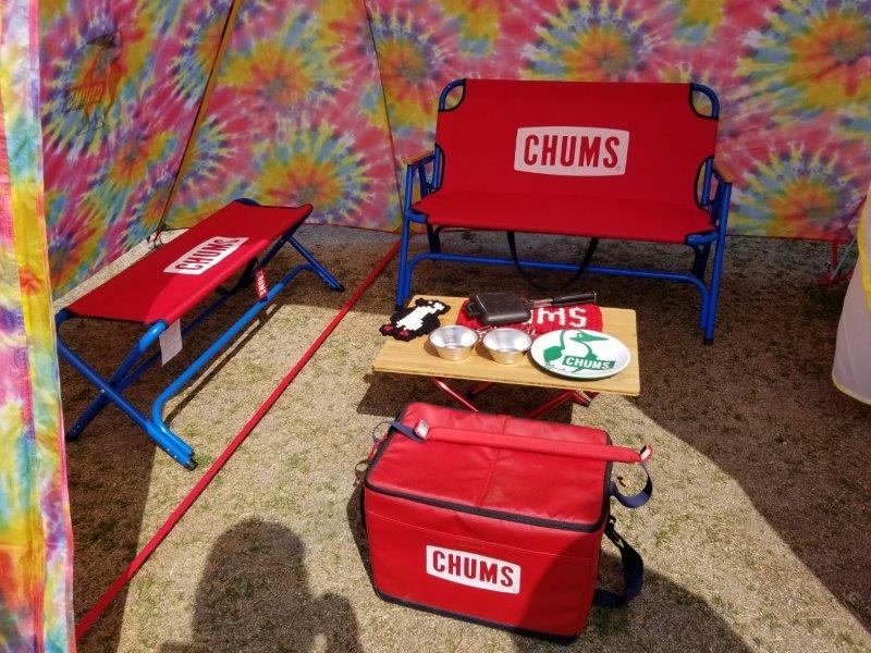 アウトドアデイジャパン福岡2019-チャムスのベンチとギア