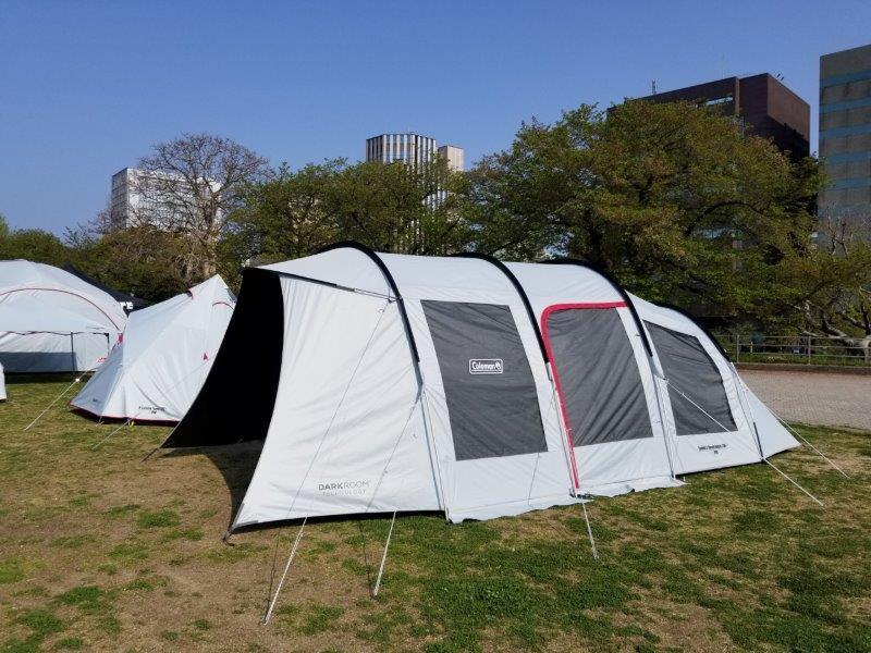 アウトドアデイジャパン福岡2019-コールマンのテント