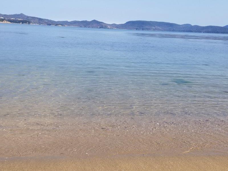 小豆島エンジェルロードの海