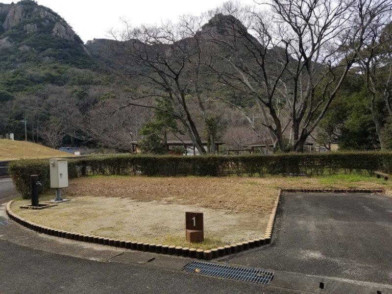 小豆島オートビレッジYOSHIDA(オートサイトの1番サイト)