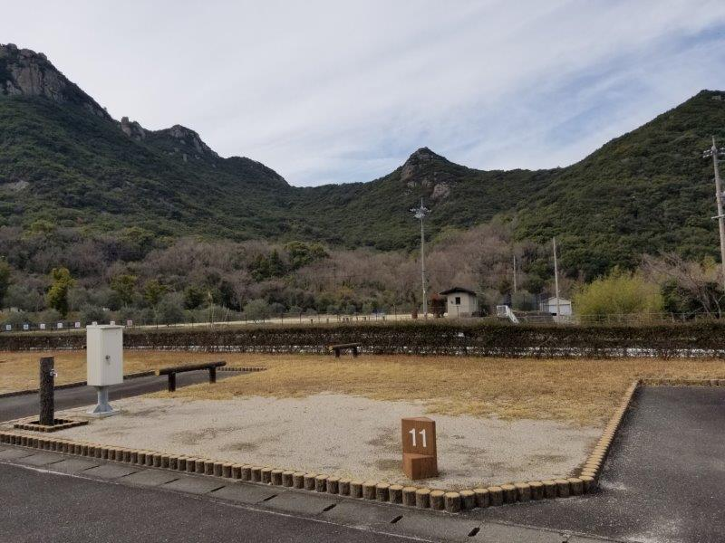 小豆島オートビレッジYOSHIDA(オートサイトの11番サイト)