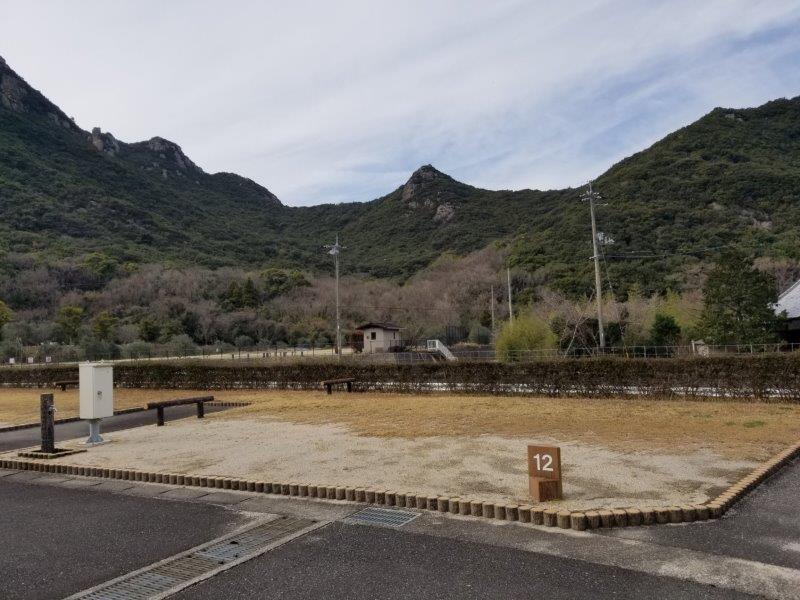 小豆島オートビレッジYOSHIDA(オートサイトの12番サイト)
