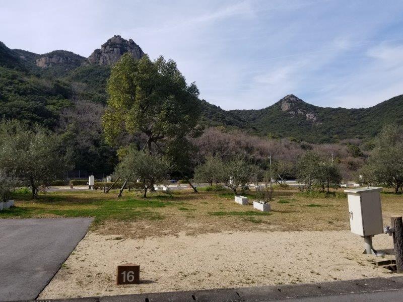 小豆島オートビレッジYOSHIDA(オートサイトの16番サイト)