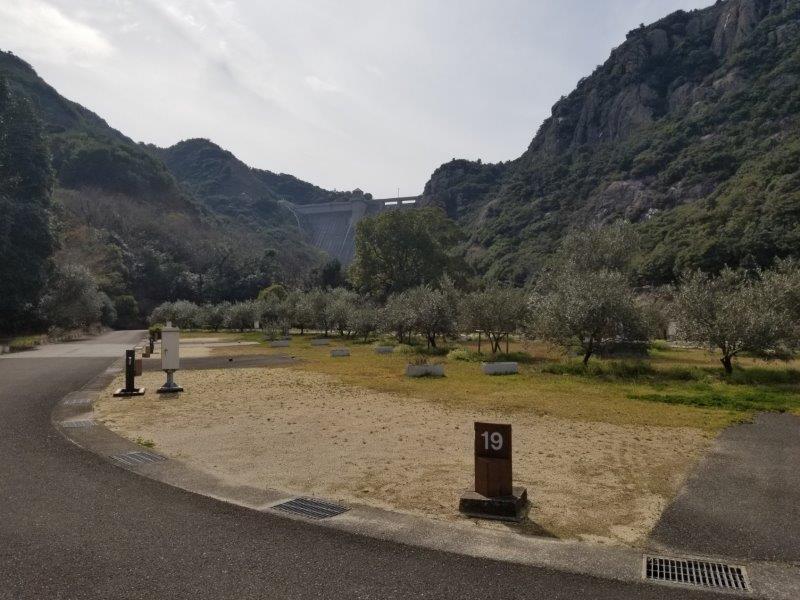 小豆島オートビレッジYOSHIDA(オートサイトの19番サイト)