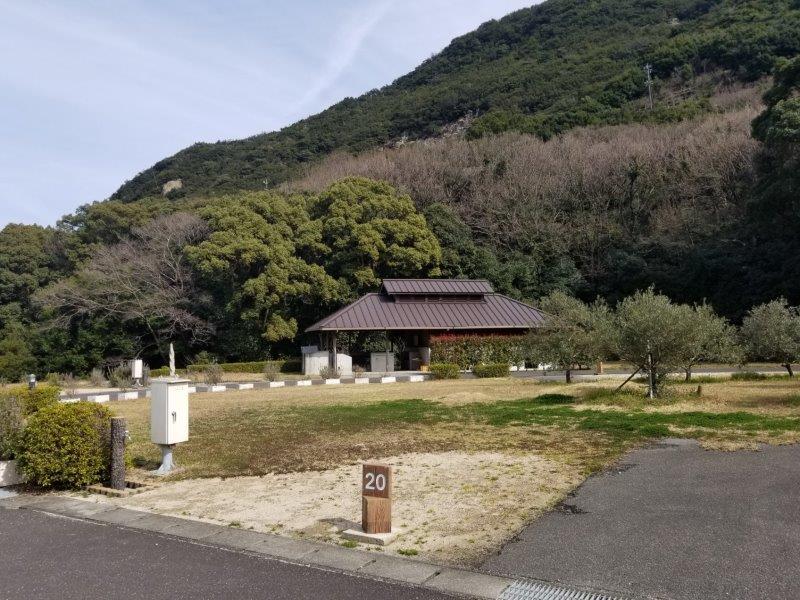 小豆島オートビレッジYOSHIDA(オートサイトの20番サイト)