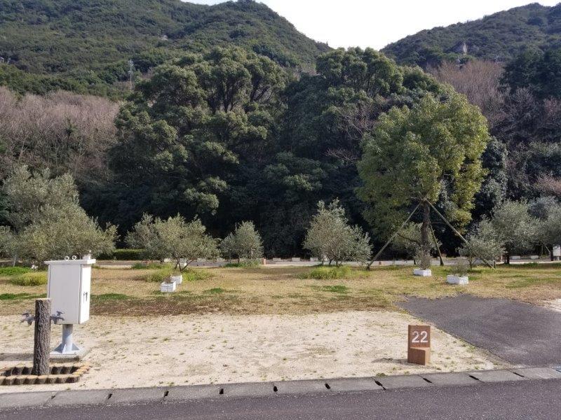 小豆島オートビレッジYOSHIDA(オートサイトの22番サイト)