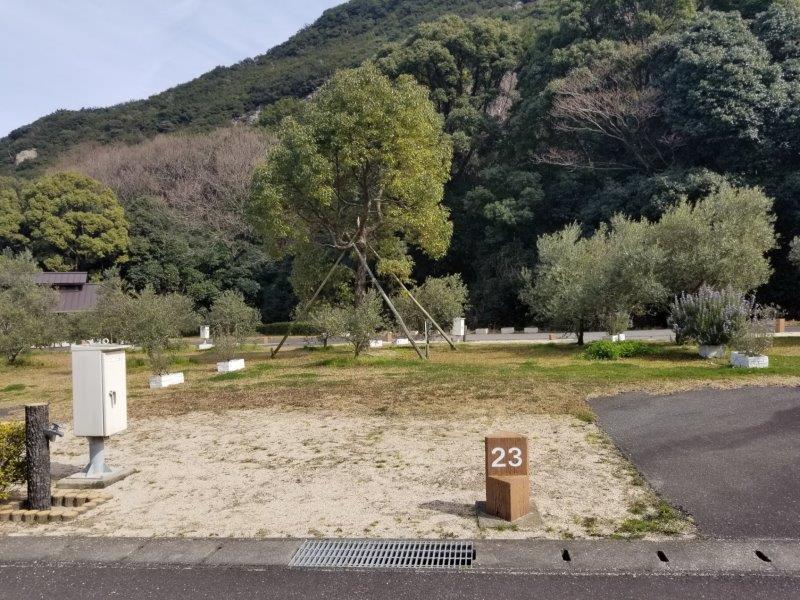 小豆島オートビレッジYOSHIDA(オートサイトの23番サイト)