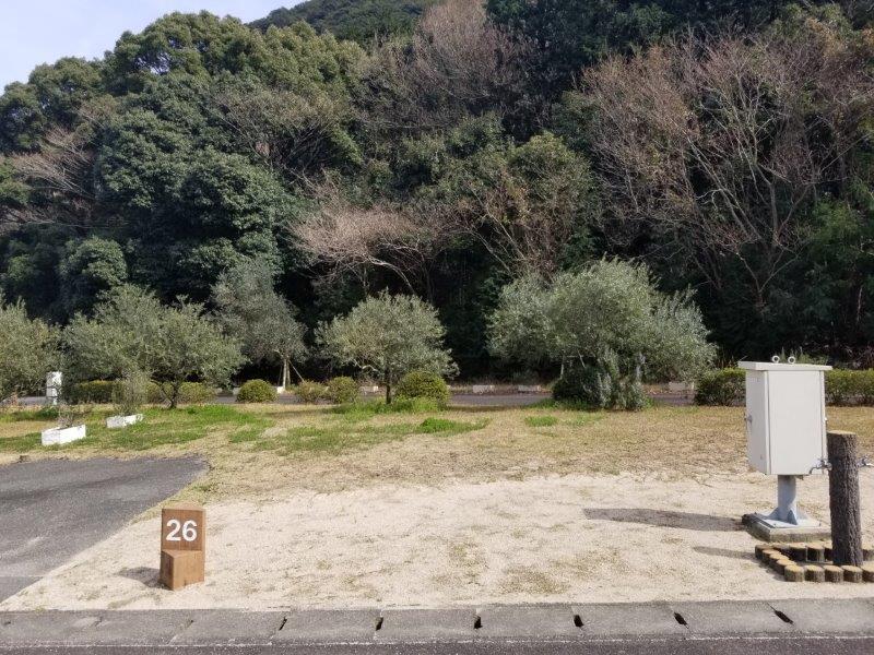小豆島オートビレッジYOSHIDA(オートサイトの26番サイト)