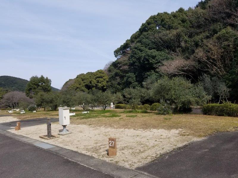 小豆島オートビレッジYOSHIDA(オートサイトの27番サイト)