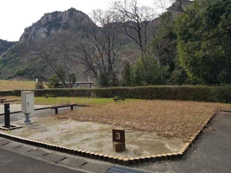 小豆島オートビレッジYOSHIDA(オートサイトの3番サイト)