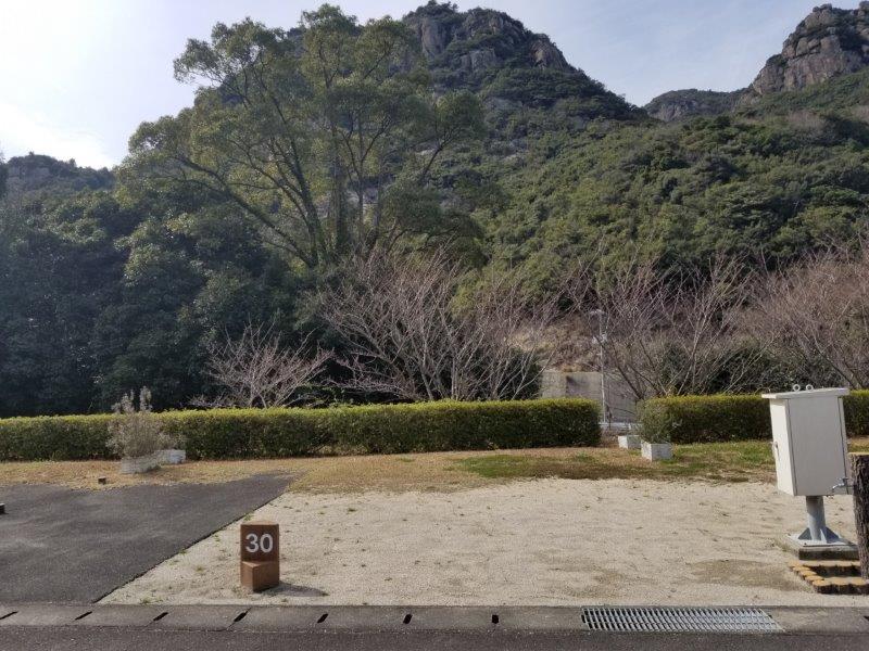 小豆島オートビレッジYOSHIDA(オートサイトの30番サイト)