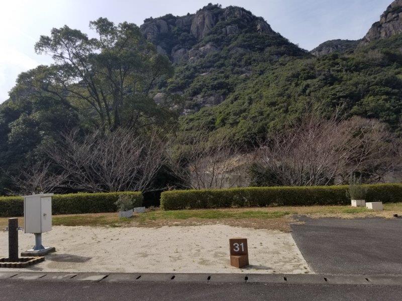 小豆島オートビレッジYOSHIDA(オートサイトの31番サイト)