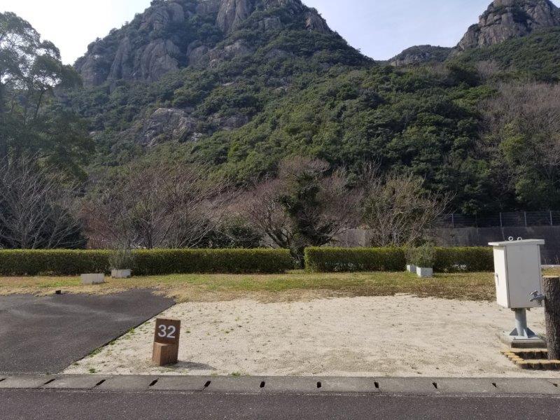 小豆島オートビレッジYOSHIDA(オートサイトの32番サイト)