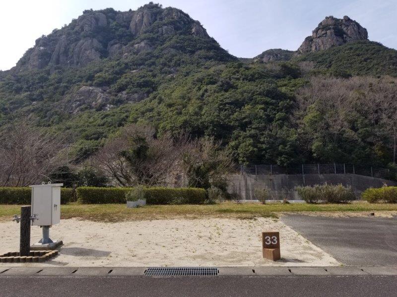 小豆島オートビレッジYOSHIDA(オートサイトの33番サイト)