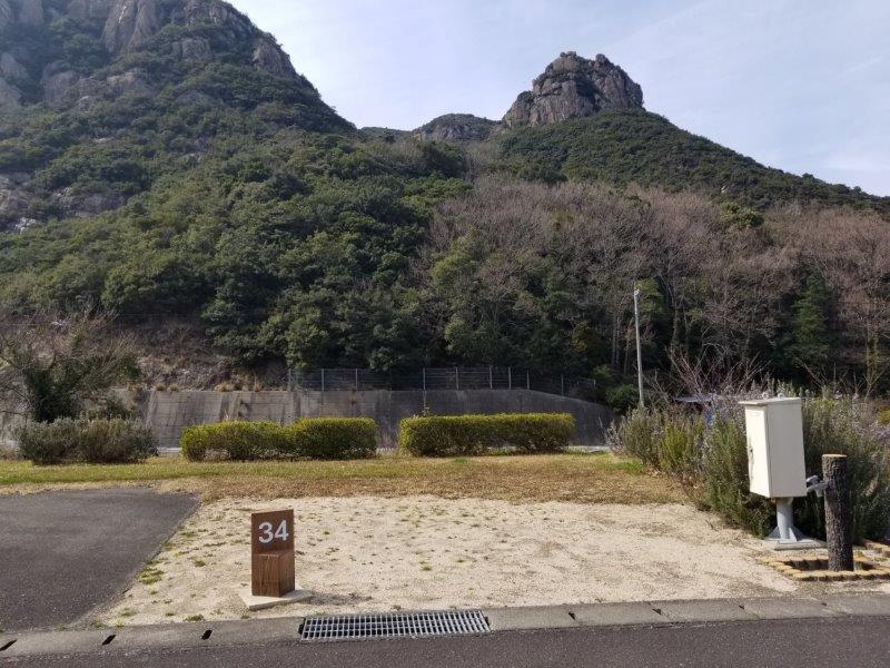小豆島オートビレッジYOSHIDA(オートサイトの34番サイト)