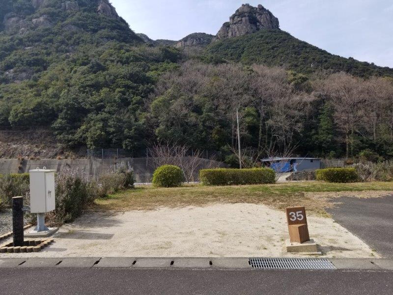 小豆島オートビレッジYOSHIDA(オートサイトの35番サイト)