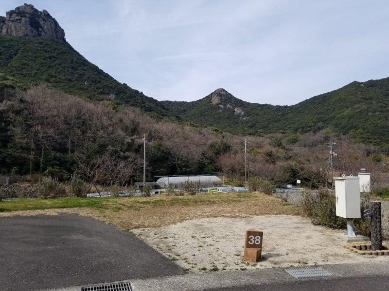小豆島オートビレッジYOSHIDA(オートサイトの38番サイト)