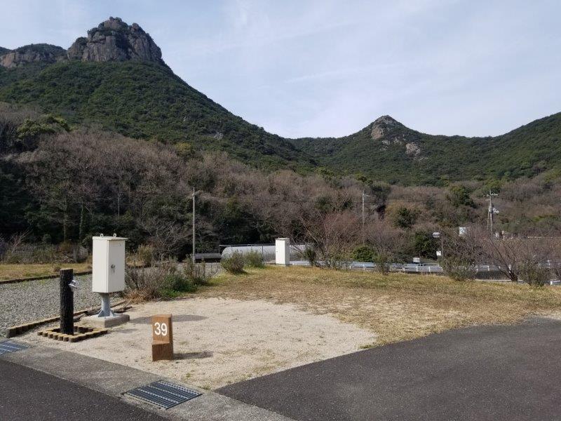 小豆島オートビレッジYOSHIDA(オートサイトの39番サイト)