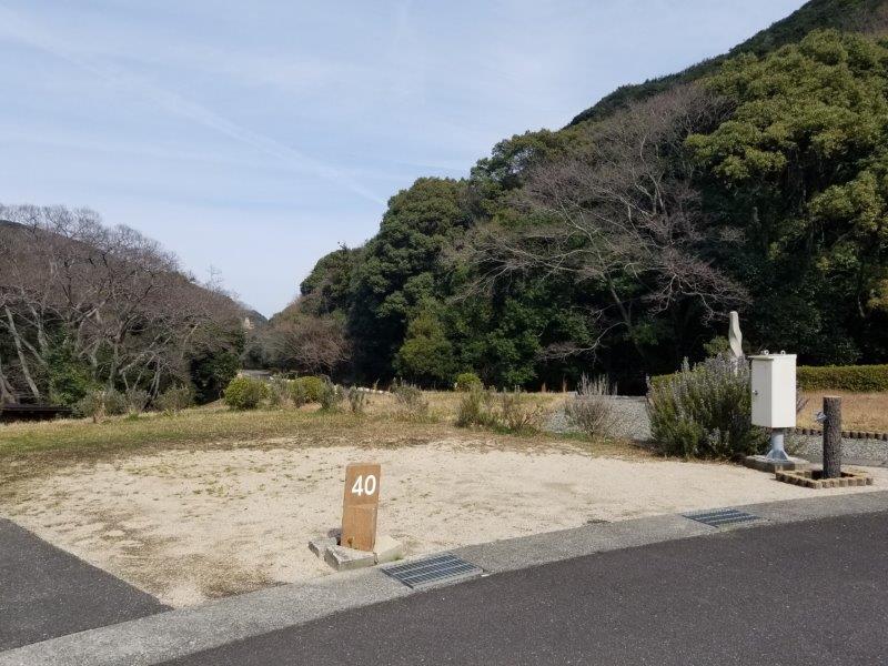 小豆島オートビレッジYOSHIDA(オートサイトの40番サイト)