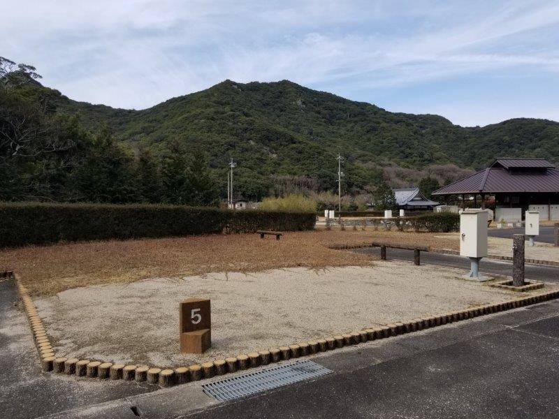 小豆島オートビレッジYOSHIDA(オートサイトの5番サイト)