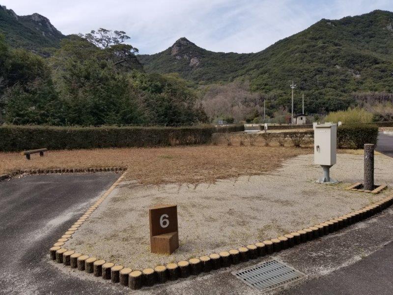 小豆島オートビレッジYOSHIDA(オートサイトの6番サイト)