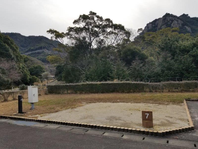 小豆島オートビレッジYOSHIDA(オートサイトの7番サイト)