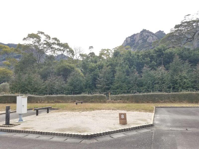 小豆島オートビレッジYOSHIDA(オートサイトの8番サイト)