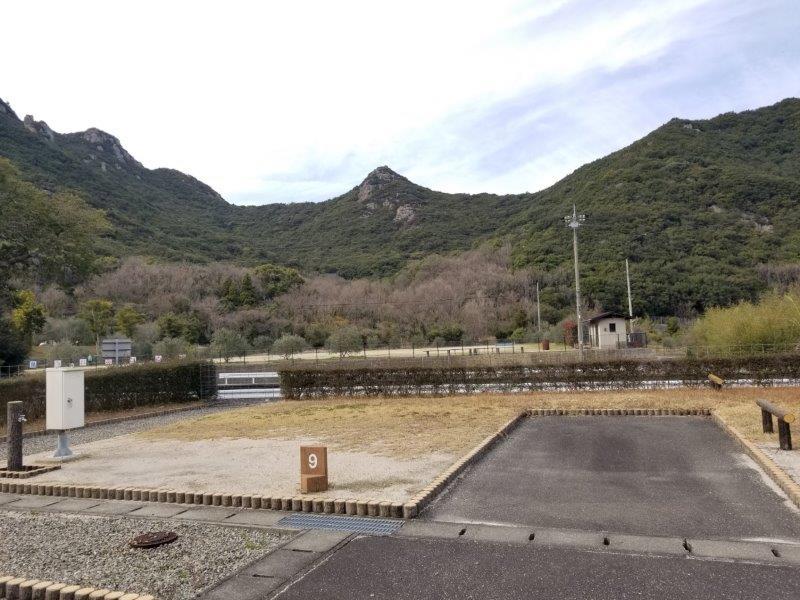 小豆島オートビレッジYOSHIDA(オートサイトの9番サイト)