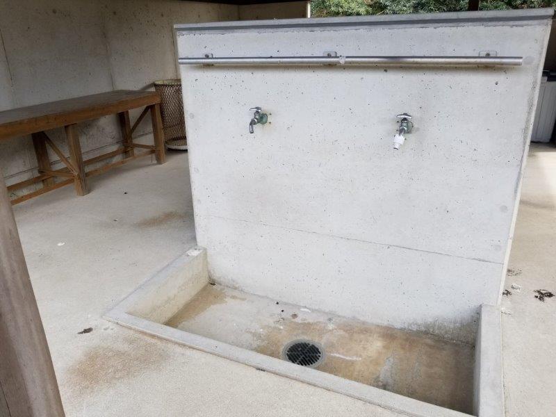 小豆島オートビレッジYOSHIDA(網洗い場)