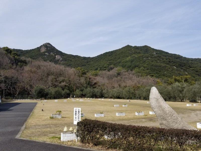 小豆島オートビレッジYOSHIDA(フリーサイト手前から)