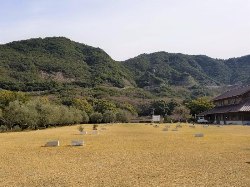 小豆島オートビレッジYOSHIDA(フリーサイト奥から)