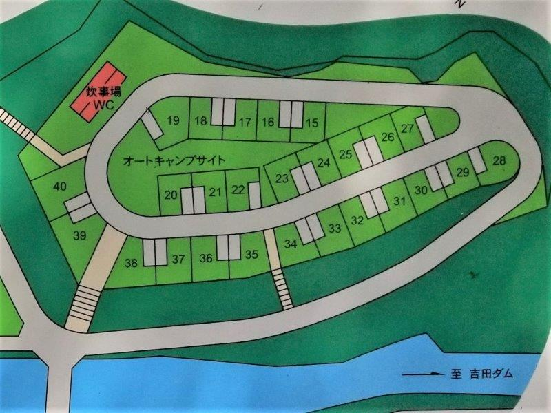 小豆島オートビレッジYOSHIDA(オートキャンプサイト15~40の拡大マップ)