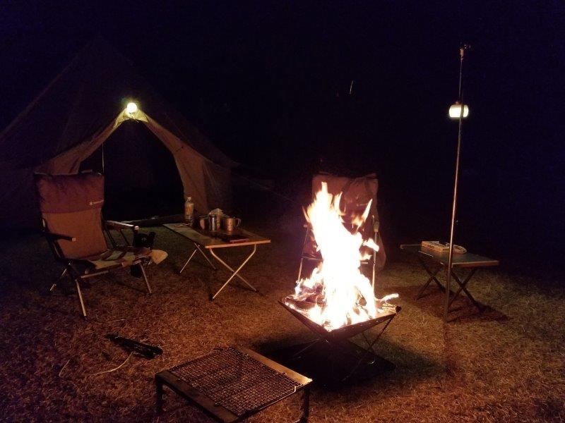 小豆島オートビレッジYOSHIDAで焚き火
