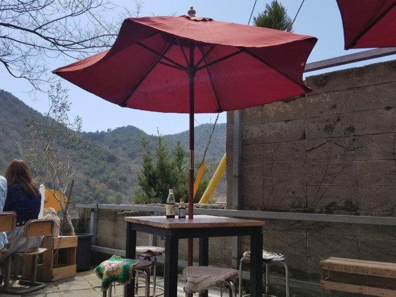 小豆島-こまめ食堂のテラス席