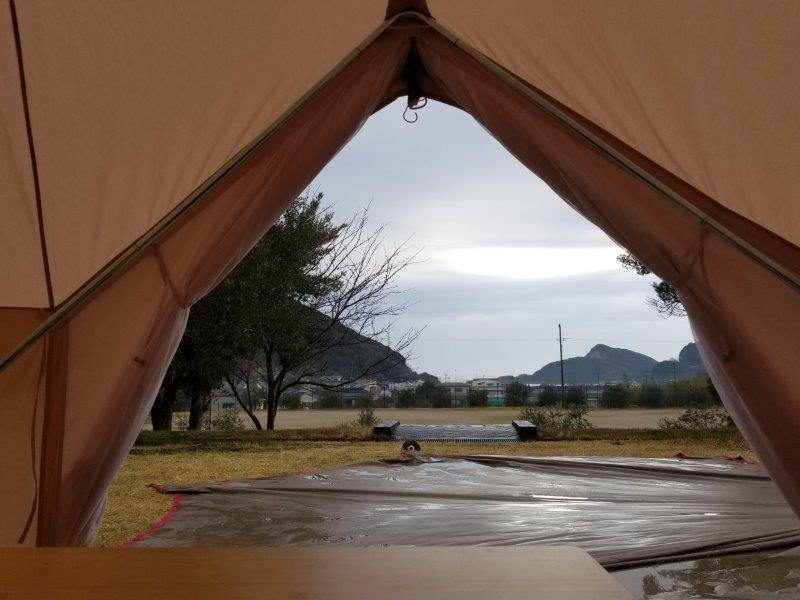雨上がりの小豆島オートビレッジYOSHIDA